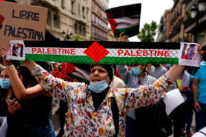 Several thousand Rallied Downtown in support of Palestinians!!