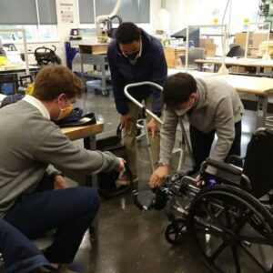 A wheelchair stroller attachment was built by a group of high school students!